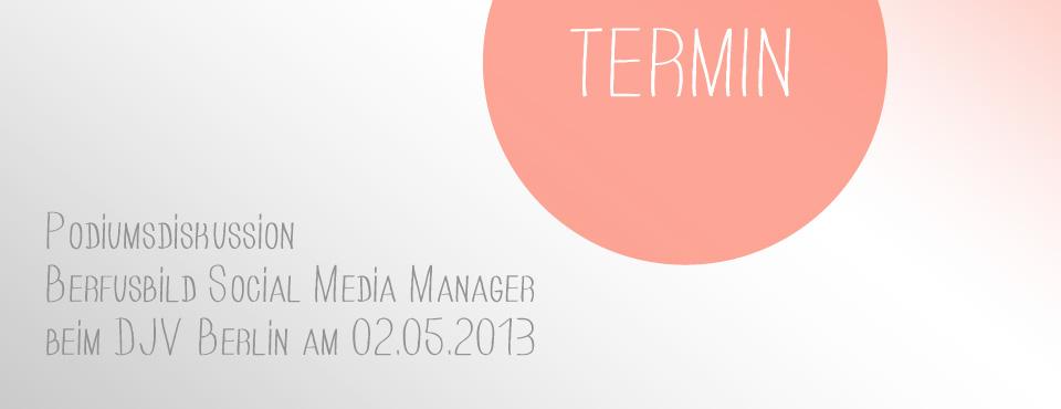 "Podiumsdiskussion über das Berufsbild ""Social Media Manager"""